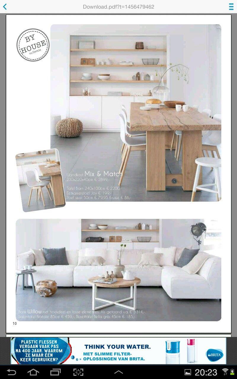 Kast, wit en hout