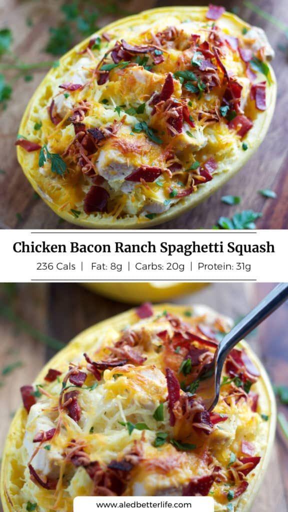 Chicken Bacon Ranch Spaghetti Squash — Julie Ledbetter