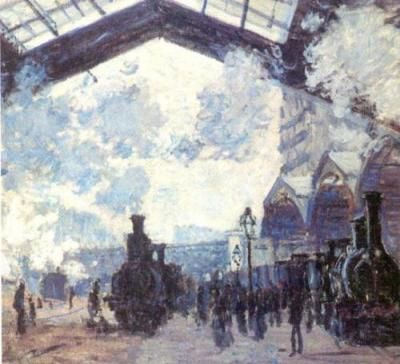 Detail from The Gare St Lazare, Monet (1877)