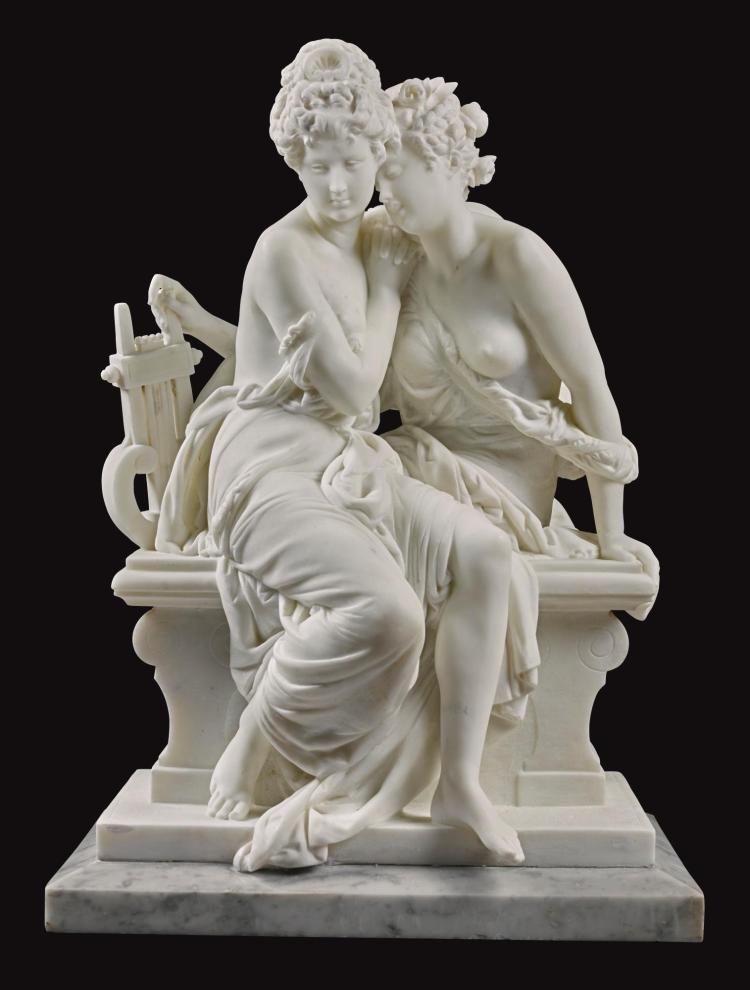 Albert Ernest Carrier Belleuse La Confidence The Secret Portrait Sculpture Sculpture Sculpture Art