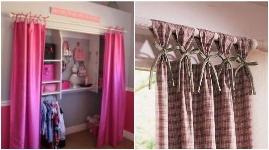 ideas para poner cortinas a tu closet - Ideas Cortinas