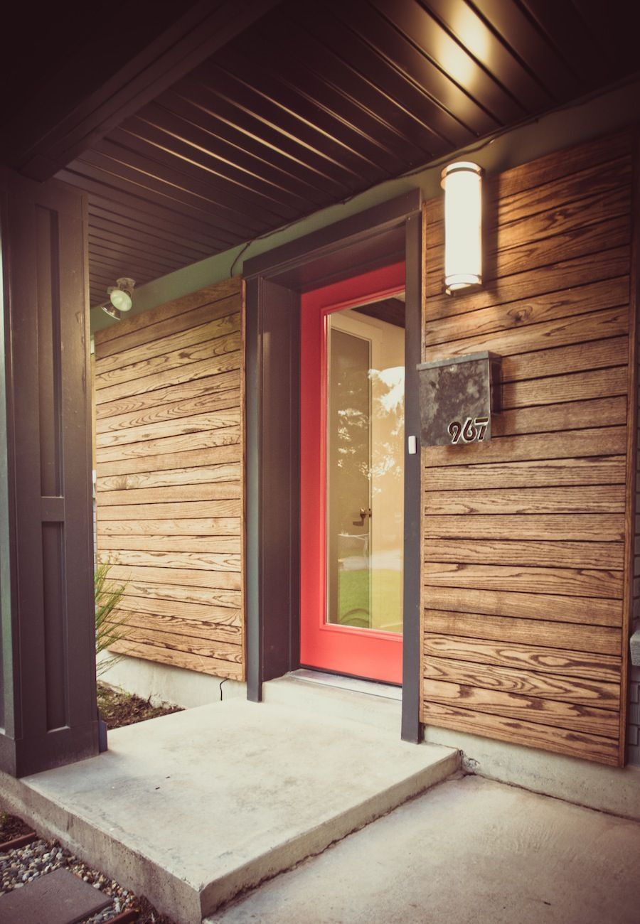 Contemporary Exterior Design Modern Wood Siding Modern House Exterior Elevation: Modern Homes For Sale, Mid Century Exterior, Tree