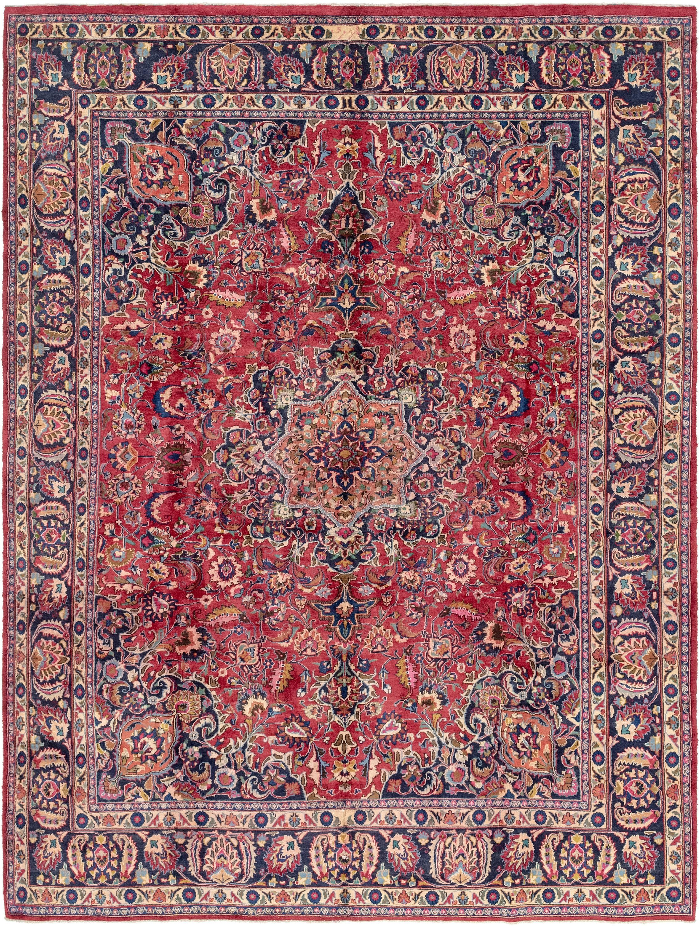 Red 9 8 X 13 Mashad Persian Rug Esalerugs Large Area Rugs Red Rugs Persian Rug