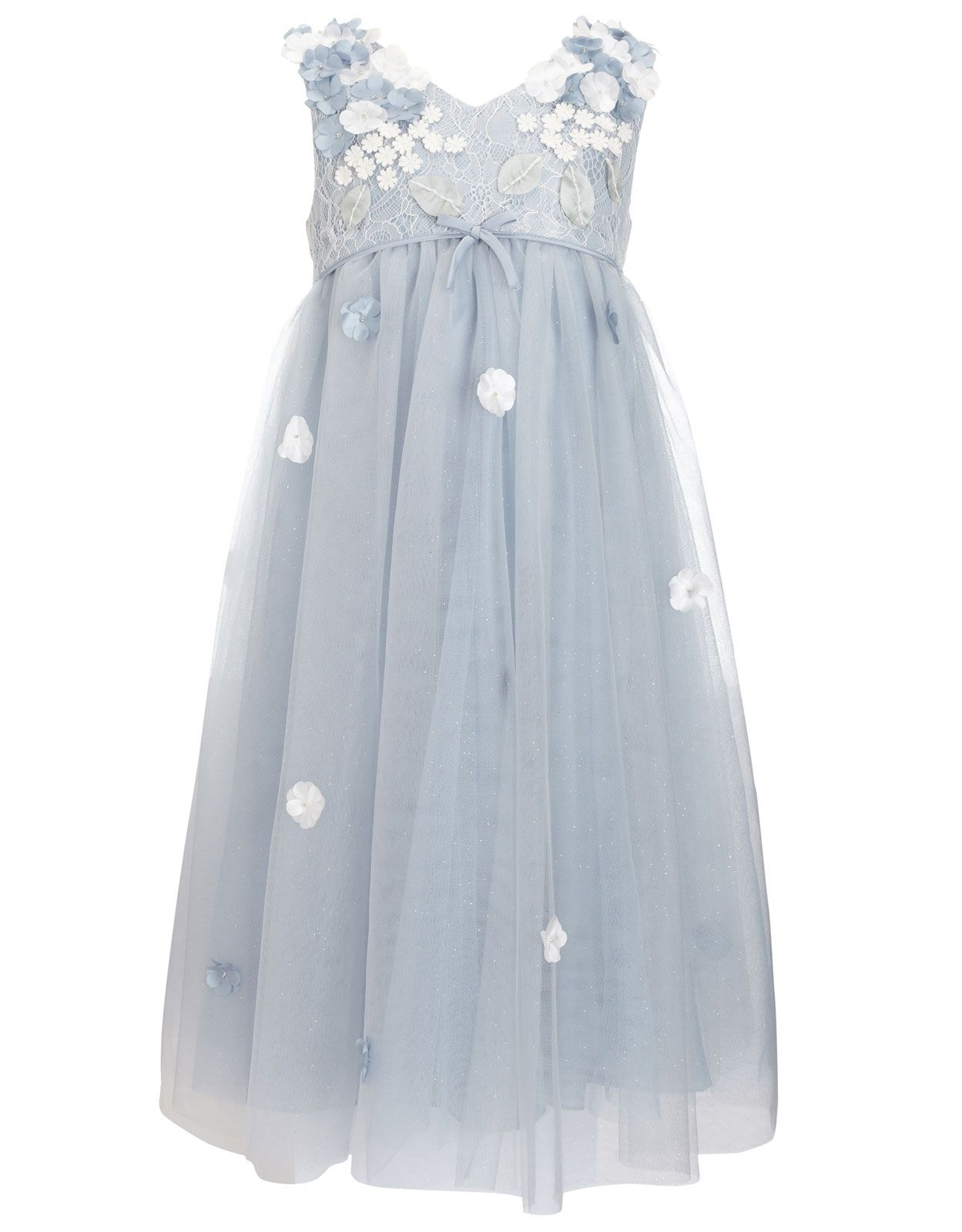 Lilly Flower Dress | Blue | Monsoon | Neutrals and solids - Dresses ...