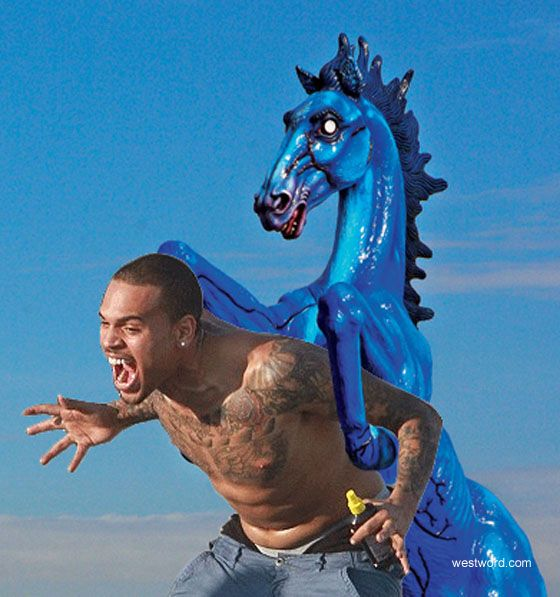 Chris Brown Getting Mounted By The Denver International