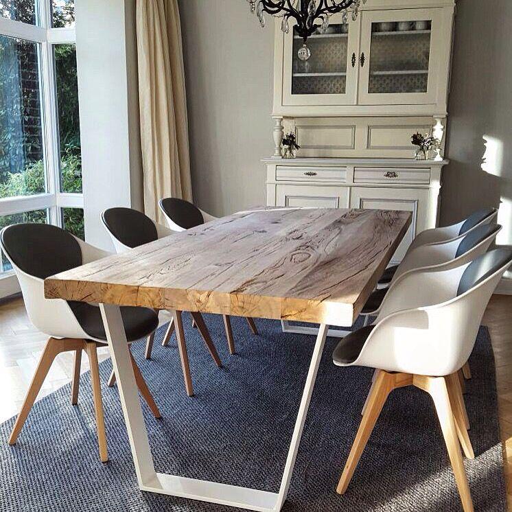 esstisch holztisch massivholzplatte massivholztisch tisch eichentisch landhaus. Black Bedroom Furniture Sets. Home Design Ideas