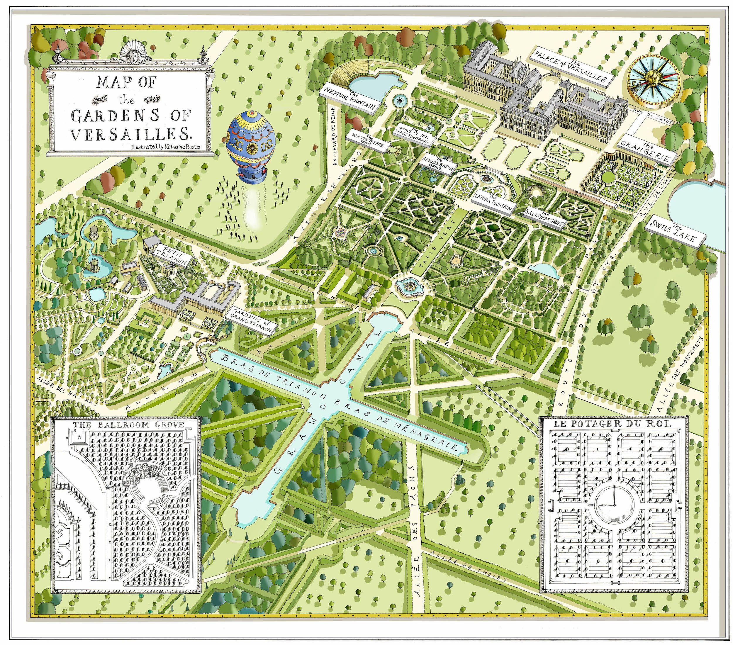 Gardens Of Versailles Map 1
