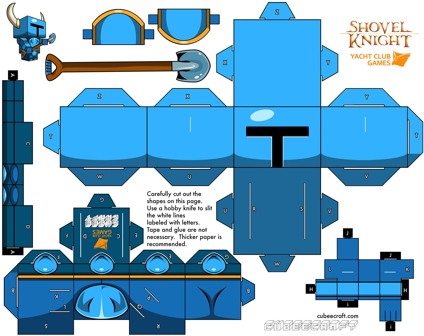 Shovel knight cubeecraft part of cubee cubes figures