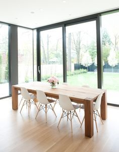 Wood Table White Eames Chairs Love Table Chairs Or Family