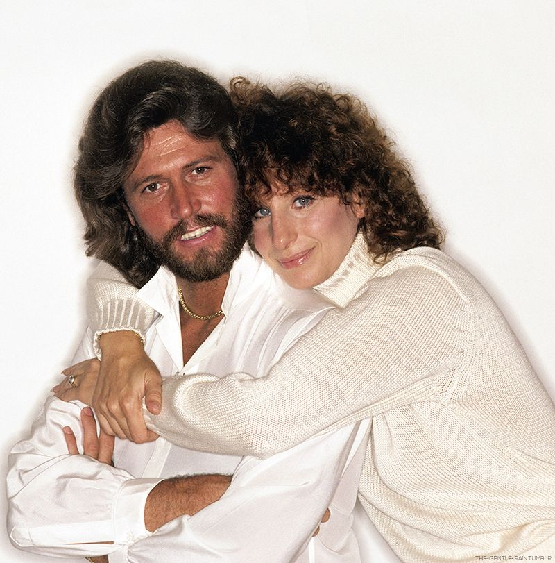 Barry Gibbs And Barbra Streisand In Outtakes From The Guilty Album