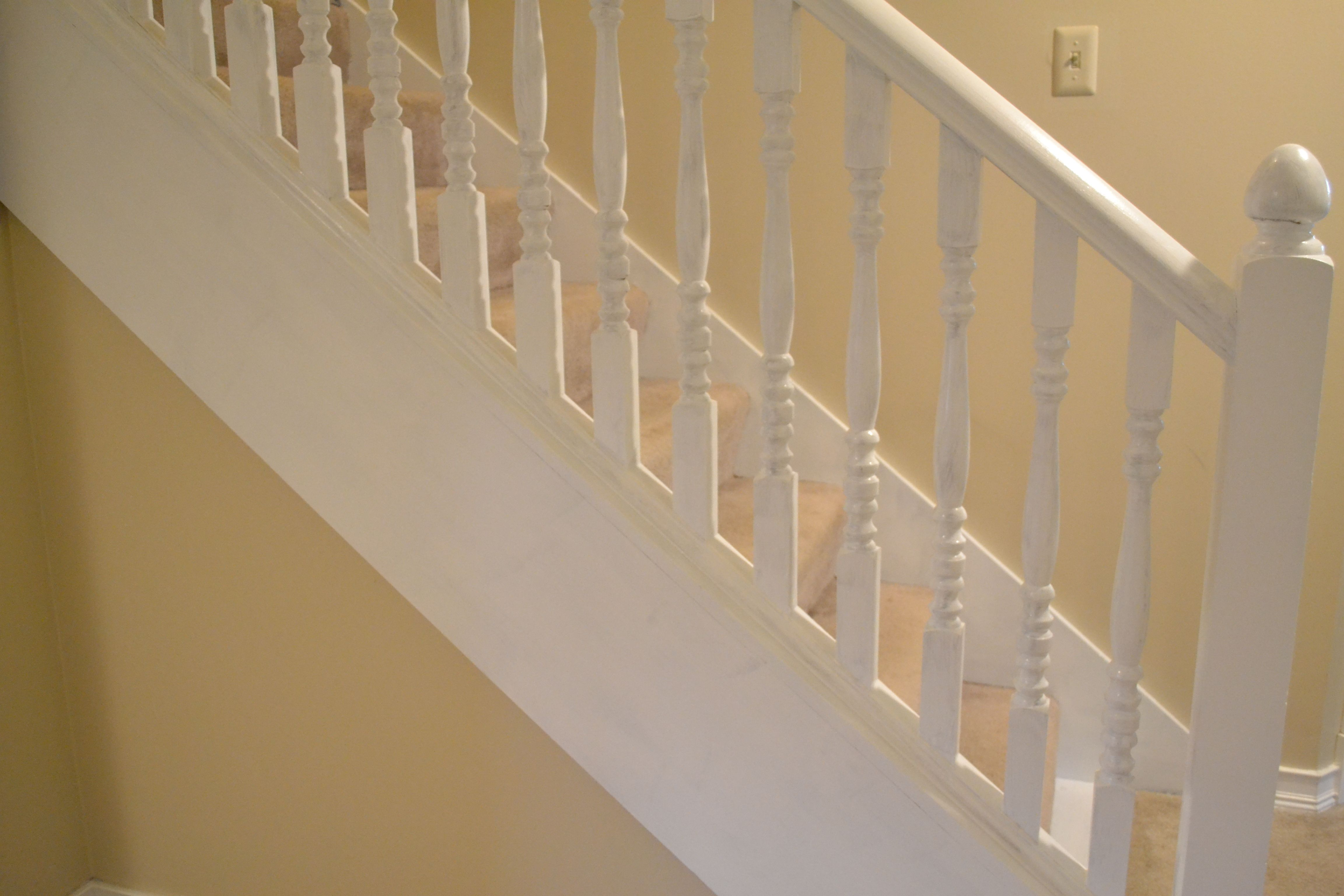 Best How To Paint A Banister Without Sanding Painted Stair 400 x 300