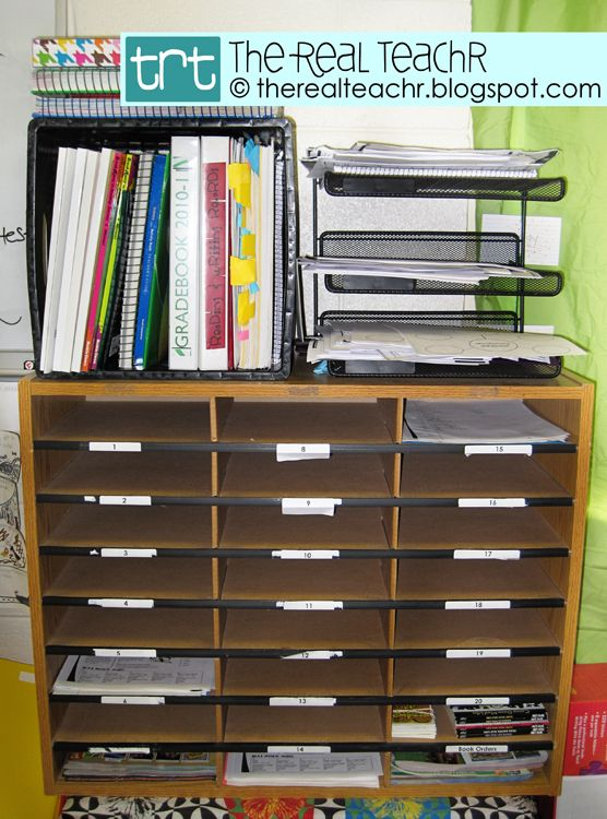 Student Mailboxes and Teaching Binders.  Ideas from The Real Teachr