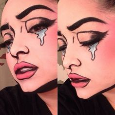 Supercool comic book makeup by Pritylipstix using Sugarpill ...