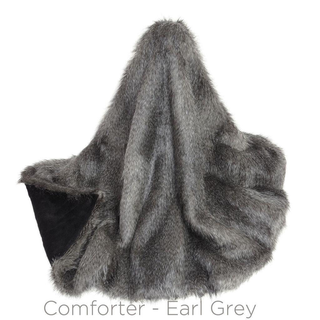 Faux Fur bed runner - Earl Grey. Must-have! (244cm)   Bedroom ...