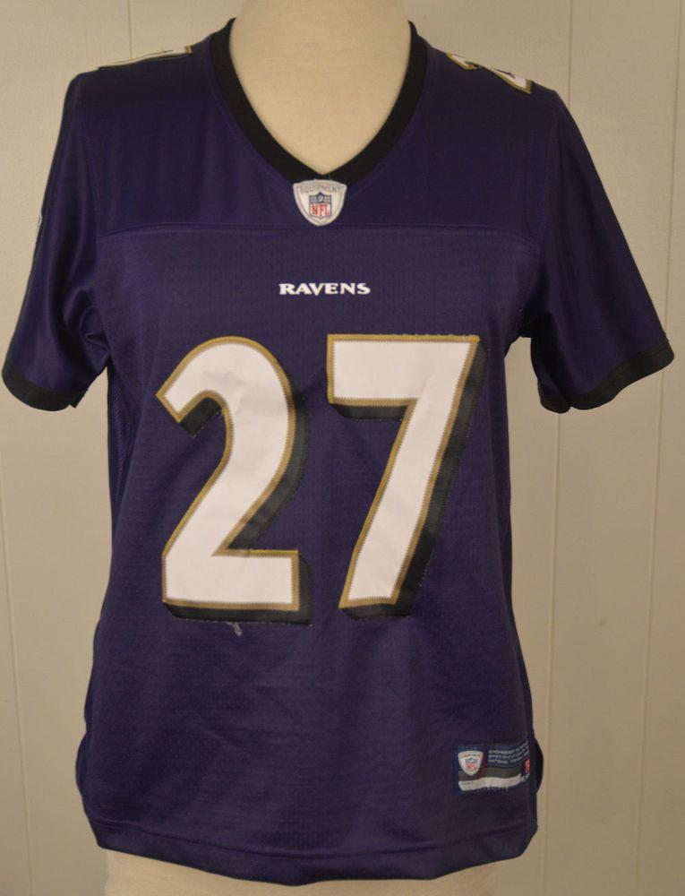 Women s Reebok Baltimore Ravens Jersey  27 Ray Rice NFL Medium 8-10 Sewn  Purple  Reebok  BaltimoreRavens a3e198b98