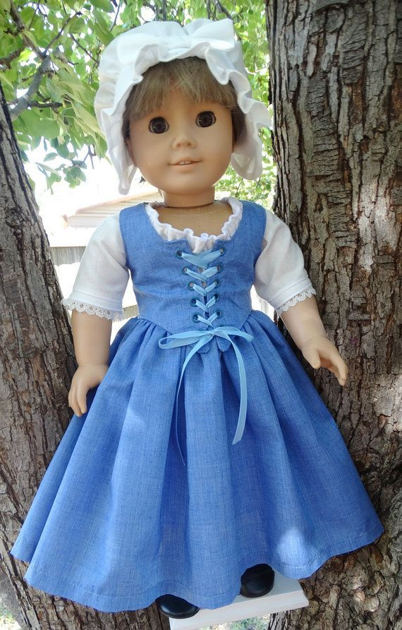 Colonial Dress for AG dolls by Designed4Dolls on Etsy. $34.95 #colonialdolldresses Colonial Dress for AG dolls by Designed4Dolls on Etsy. $34.95 #colonialdolldresses