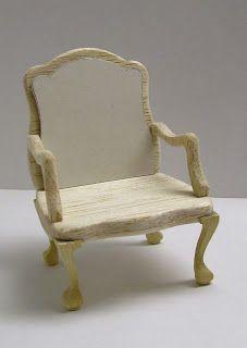Miniature Dreamworld: Ludvig XV armchair patterns