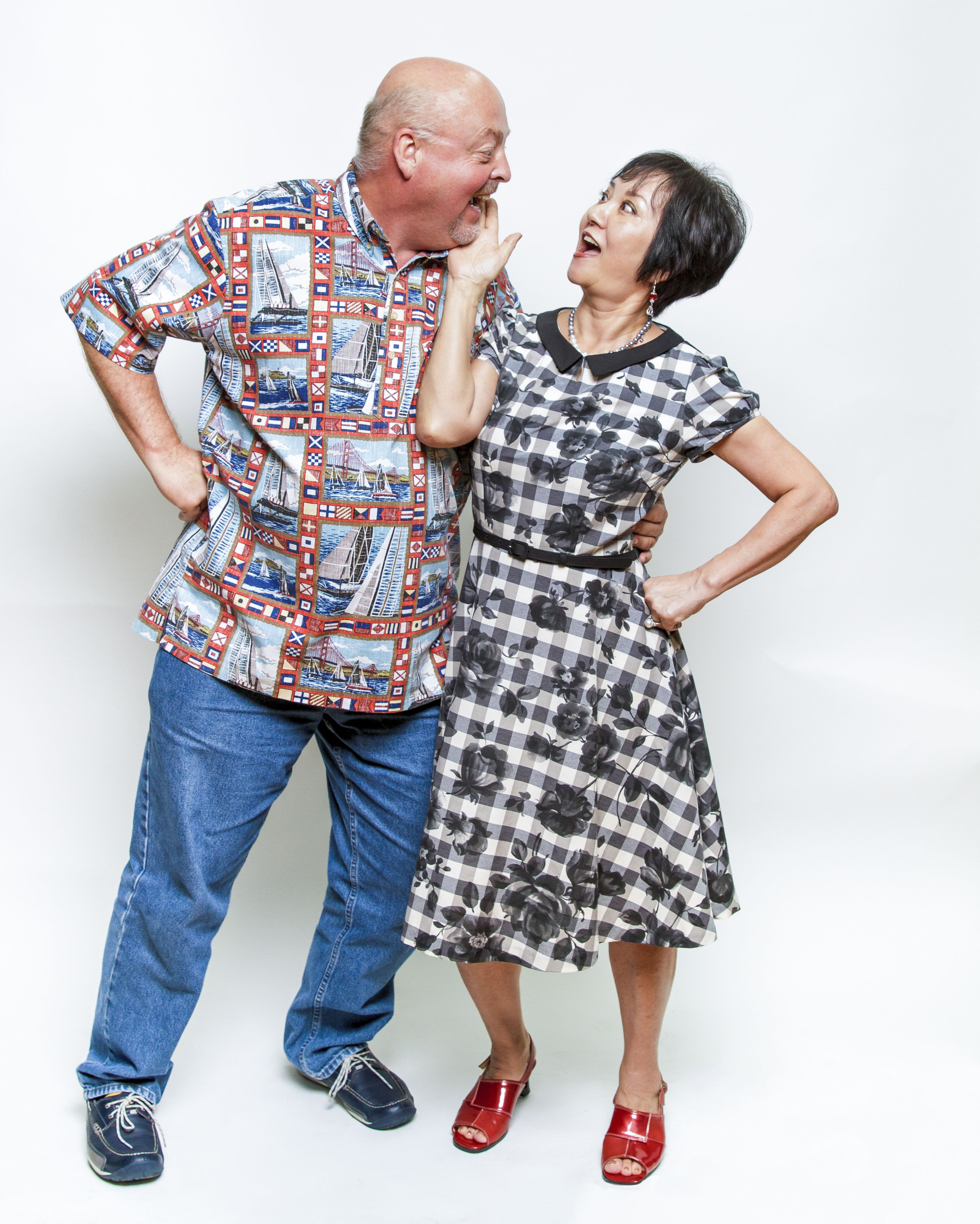 ms. mimiko and bob having a playful moment in the studio. | toute