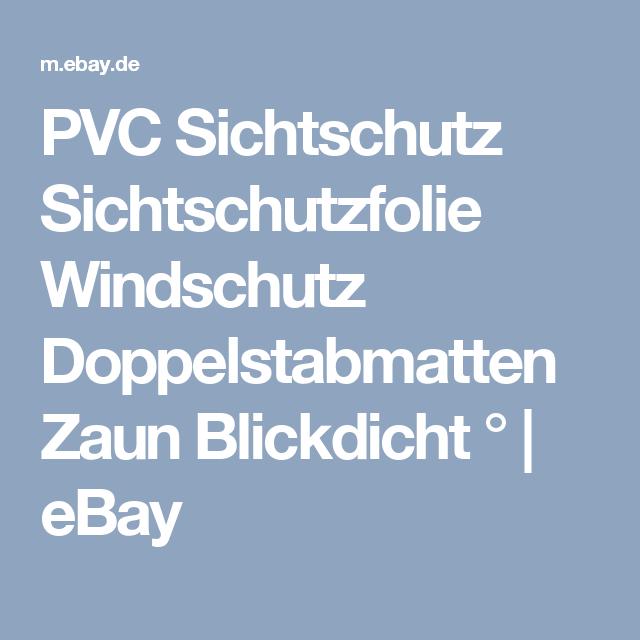 Details Zu Pvc Sichtschutz Sichtschutzfolie Windschutz