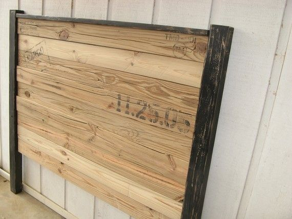 59 Incredibly Simple Rustic Décor Ideas That Can Make Your: Reclaimed Wood Headboard, Boys