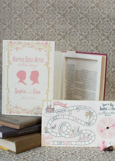 Awww these are adorable invitations/save the date cards
