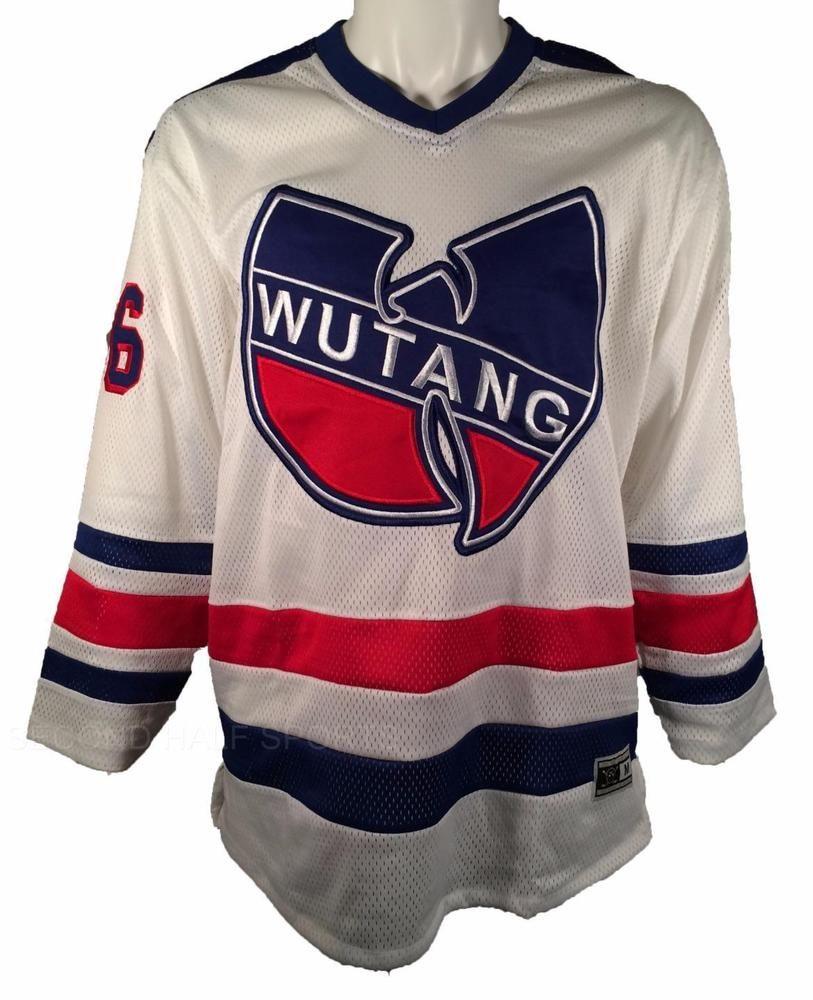 72fb5a5d7c8 New Wu Tang Clan Hockey Jersey C.R.E.A.M. CREAM 36 Chambers WU YORK RANGERS