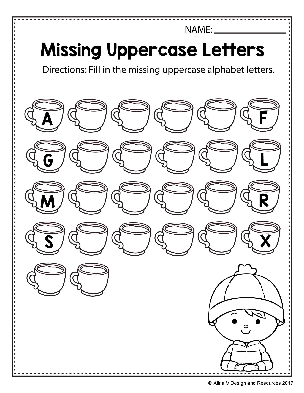 Free Printable Missing Alphabet