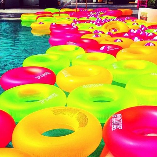 Pink floats!