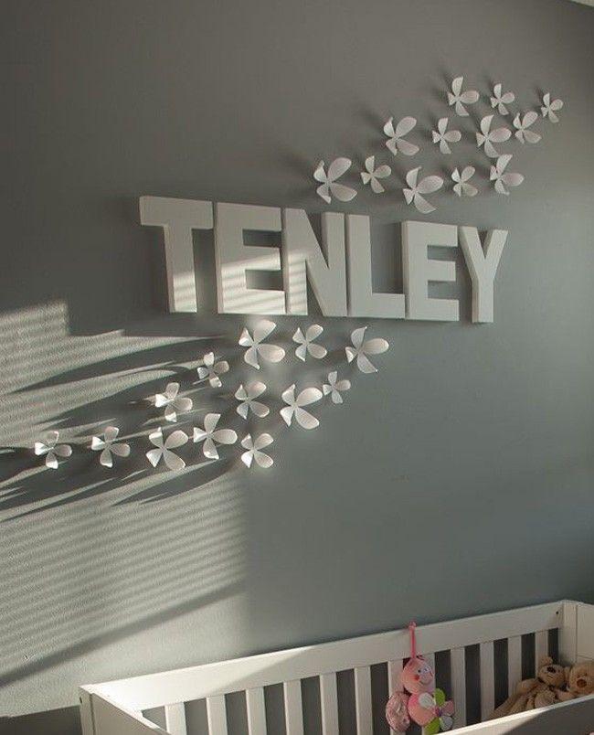 10 ideas para decorar el cuarto de tu bebé con su nombre ...