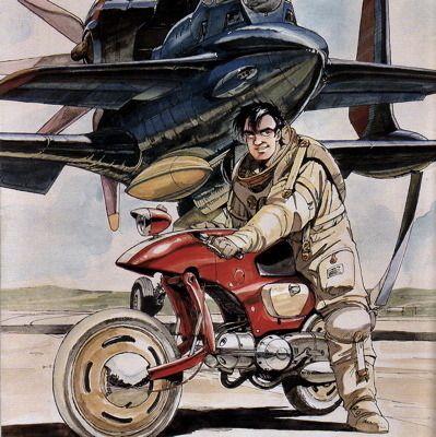 オネアミスの翼 イラスト バイクアート イラストアート