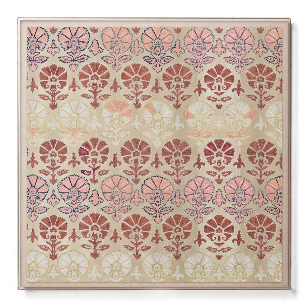 St. Frank | Silk Blush Suzani - Sublime Framed Print