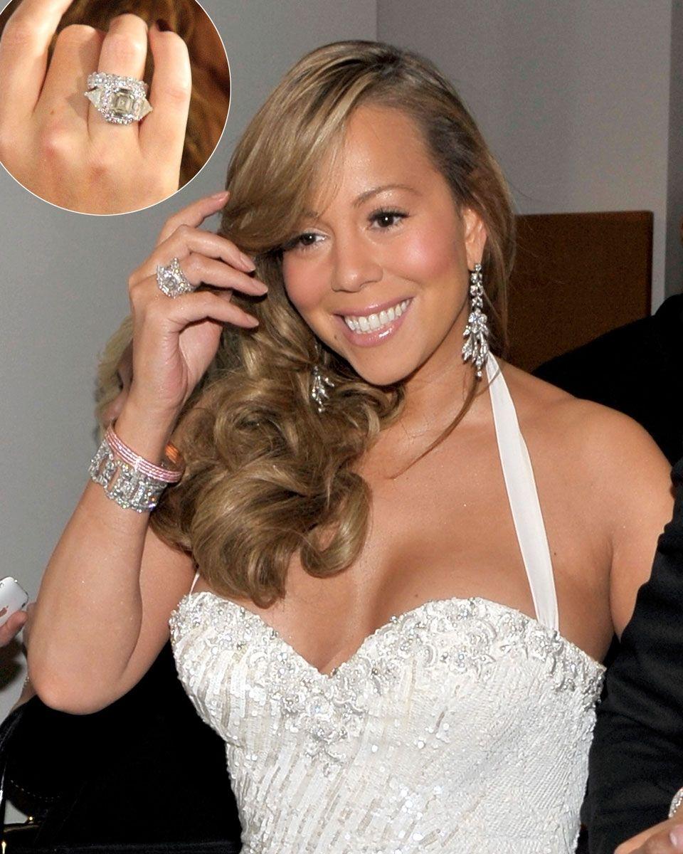 mariah carey engagement ring replica - Mariah Carey Wedding Ring