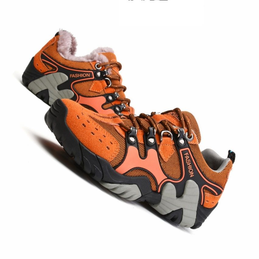 Winter Men Sport Hiking Shoes Breathable Genuine Leather Men Outdoor Travel Camping Trekking Training Shoes Hiking Sne Hiking Shoes Leather Men Hiking Sneakers