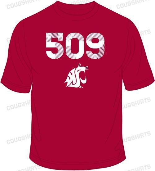 WSU Area Code TShirt From CougShirtscom WSU GoCougs - 509 area code