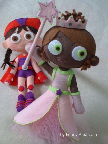 Super Why e turma (Discovery Kids). Confecção: Funny Amandita.