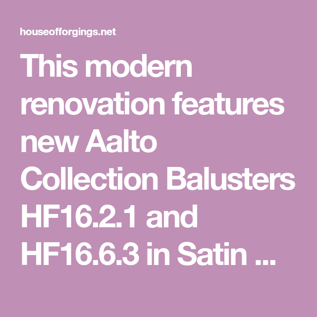 Best This Modern Renovation Features New Aalto Collection 400 x 300