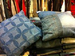 Kussens van oude jeans