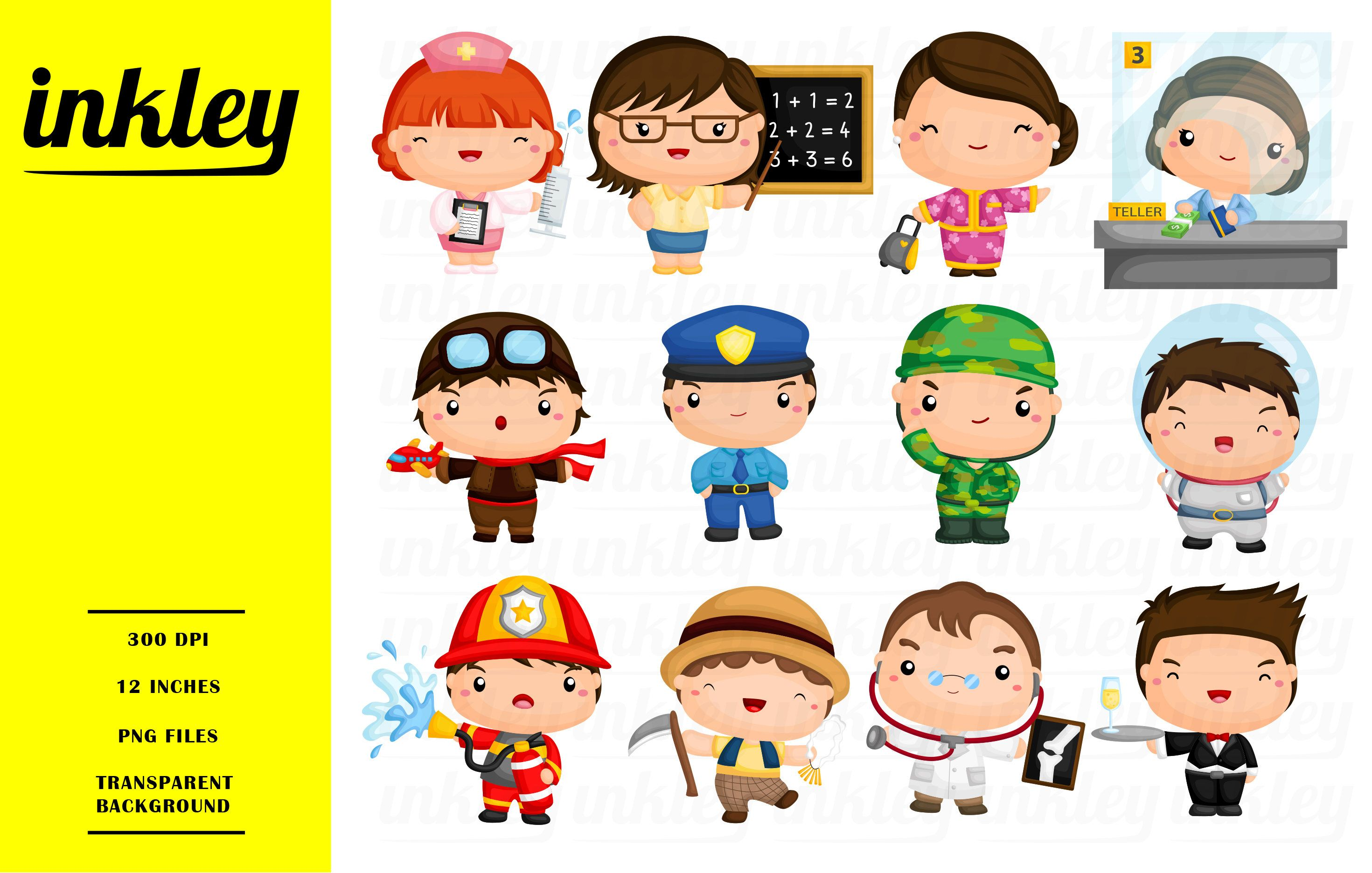 Job And Occupation Clipart Cute Job Clip Art Profession Clipart Free Svg On Request Occupation Clipart Clip Art Jobs In Art
