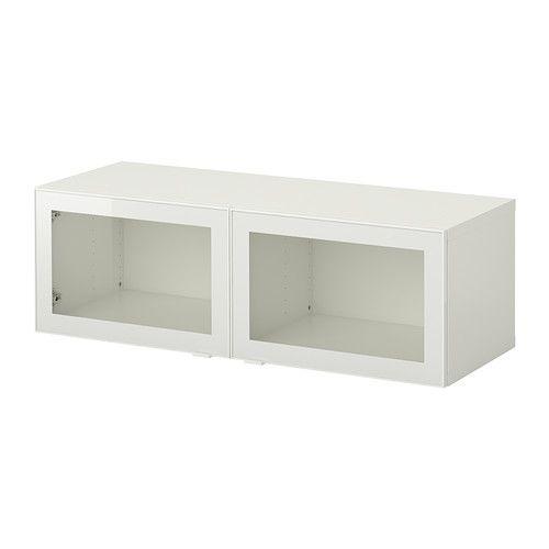 Ikea Besta Regal Mit Glasturen Weiss Glassvik Weiss Klarglas