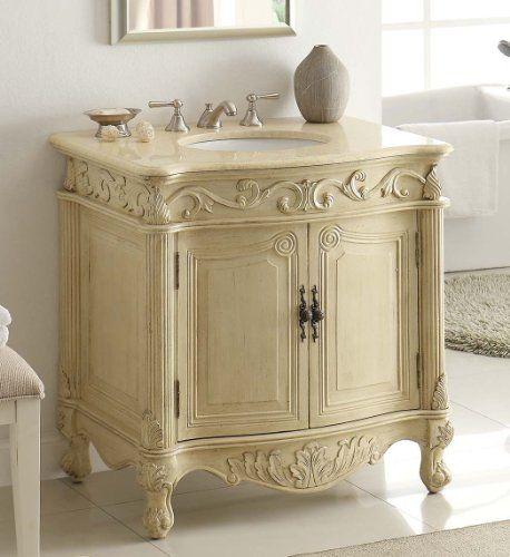 32 Traditional Style Fiesta Bathroom Sink Vanity Cabinet Cf 2873m Lt Chans Furniture