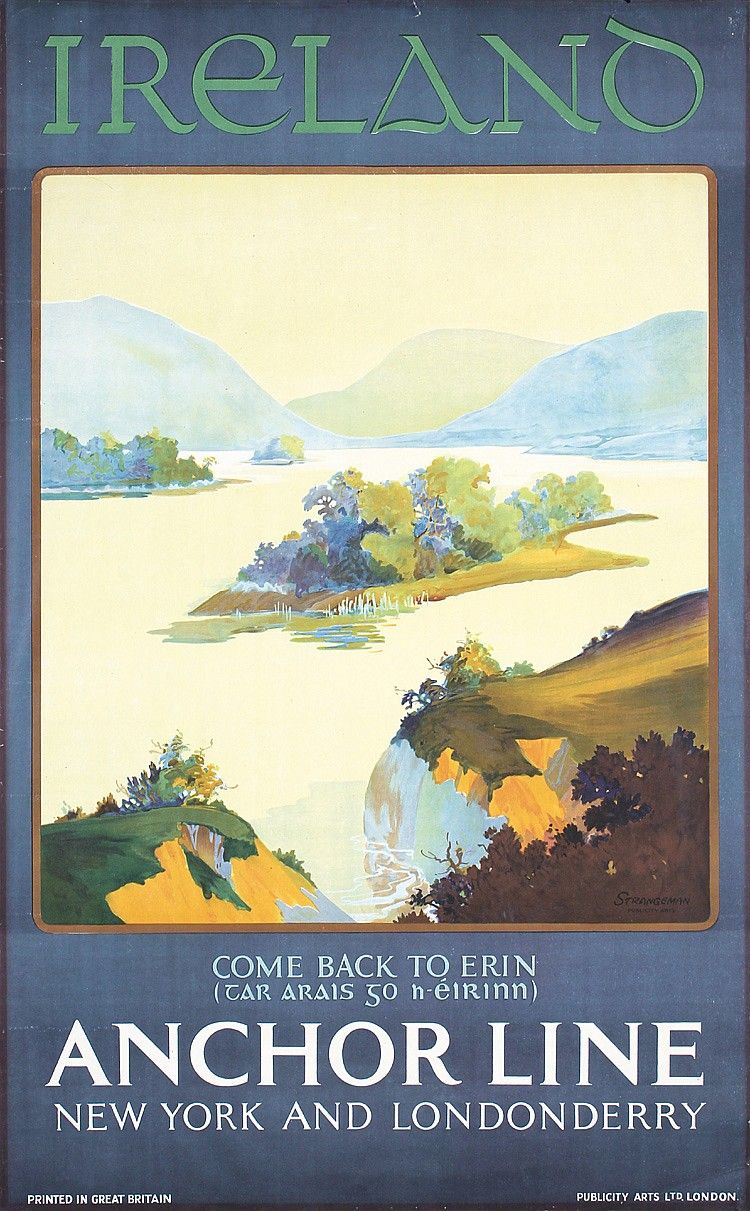 Tp124 Enjoy A Holiday In Northern Ireland Medium Travel Posters Retro Travel Poster Vintage Travel Posters