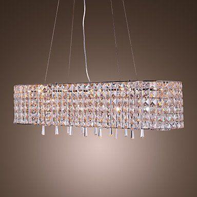 Lámpara Chandelier de Cristal con 16 Bombillas - VIROFLAY...…