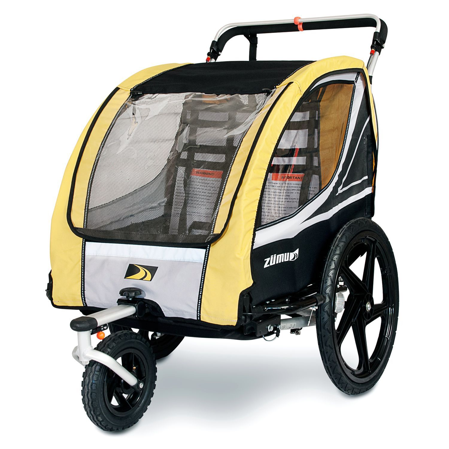 This 3in1 bike trailer doubles as a stroller/jogger