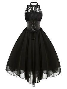 medieval victorian women retro lace corset dress party