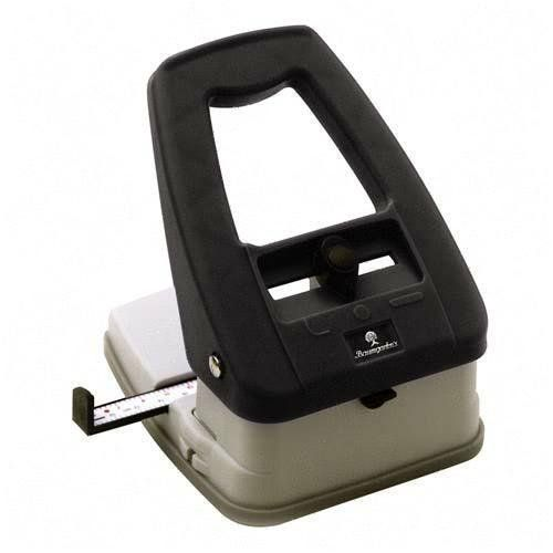 "* Slot Punch, 3 In 1, 5""x6""x4"", 18 Sheet Capacity, Black/Ivory (BAU80200) Category: Paper Punches Baumgarten�s"