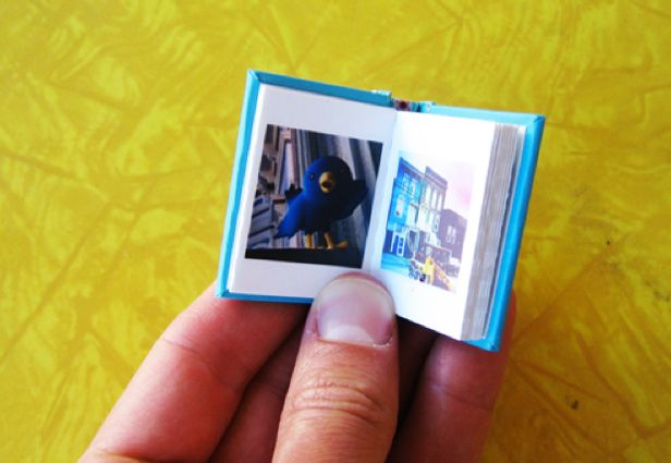 Tiny memory books... Great for parents that travels or a graduation gift (for those homesick moments).