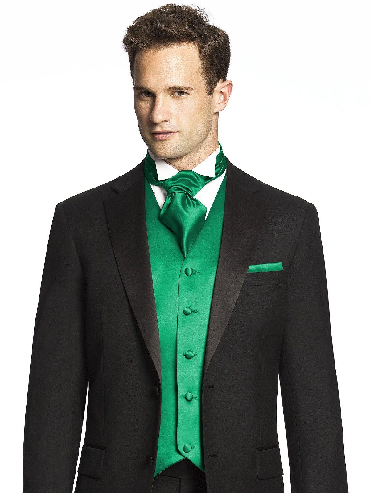 Dessy Group Custom Cravats in Duchess Satin.