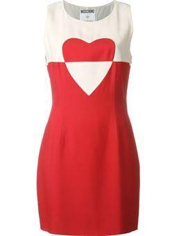 vestido con estampado de corazón