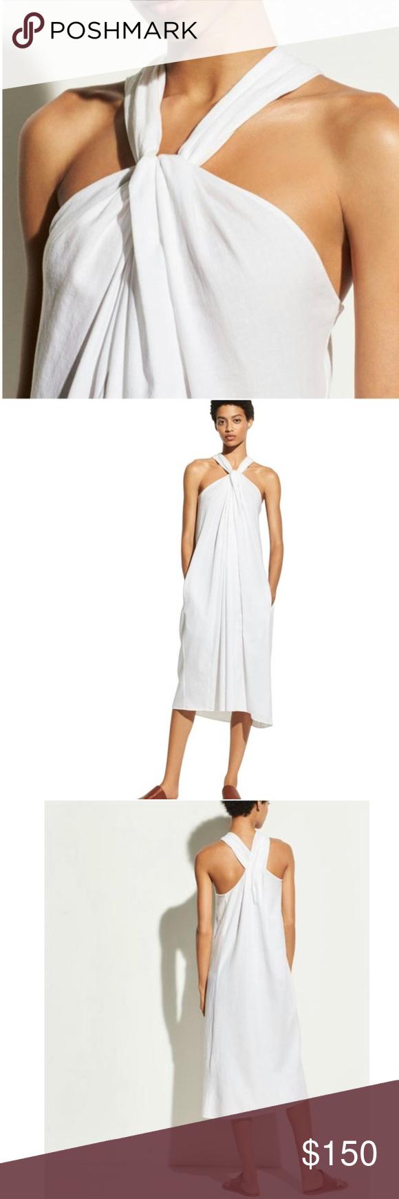 Vince White Twist Front Halter Casual Maxi Dress M Vince White Twist Front Halter Casual Maxi Dress Tag Size Medium Ma Maxi Dresses Casual Maxi Dress Dresses [ 1740 x 580 Pixel ]