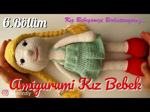 Amigurumi Bebek Gövdesi : Amigurumi kız bebek yapımı bölüm birleştirme Örgü oyuncak